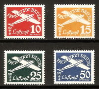 DR Danzig Nazi Reich Rare WW2 Stamp 1938 Airmail Aircraft Flugpost Classic Avia