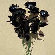 Artificial Silk Fake Black Rose Flowers Wedding Party Home Bouquet Decoration