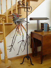 Assemblage Kinetic Root Art Sculpture Forged Iron & Oil Paint