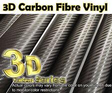 【3D CARBON FIBER Black】1m(39.4in)x0.75m(29.5in)Wrap Vinyl Sheet Sticker Film