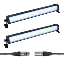 2 X Eurolite LED Bar-126 RGB 1/2M Barra de Luz Iluminación Superior Iluminación DJ Discoteca Listón
