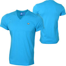 ADIDAS ORIGINALS MENS V NECK T-SHIRT / TEE SIZE XS M RRP £32 SAVE 70% of rrp