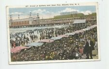 VTG POSTCARD  1923 BATHERS NEAR STEEL PIER  ATLANTIC CITY NEW JERSEY  beach
