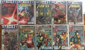 "Avengers #25 -34 ""AvX & ""End Times"" Comic Book Set Bendis Last Run"