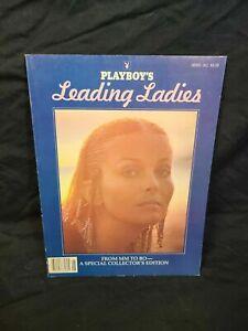 Playboy's Leading Ladies Oct 1981 Bo Derek Book Hardback DUst Jacket