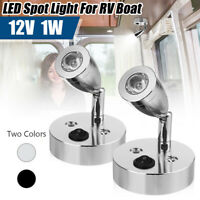 12V LED Spot Leselichtschalter Camper Van Caravan Für Boot Wohnmobil Licht