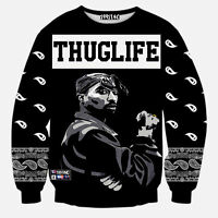 tupac thug life 3D Print Hoodies Pullover Casual Men Sweat Shirts SweatshirtQS59