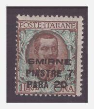 SMIRNE 1922  -     Piastre 7,20  su  Lire 1   NUOVO **