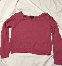 Forever 21 Pink Crop Top Sweater Medium