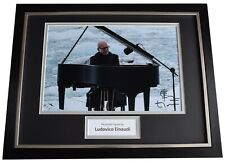 Ludovico Einaudi Signed Autograph 16x12 framed photo display Piano Music COA