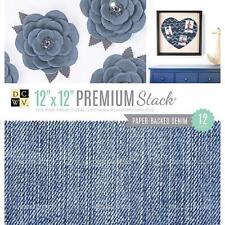 "DCWV 12x12"" Premium Stack 12pcs - Paper Backed Denims Fabric"
