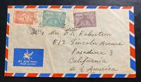 1930s Dhahran Saudi Arabia Airmail Arabic Oil Company Cover to Pasadena Ca USA