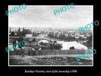 OLD LARGE HISTORIC PHOTO OF BENDIGO VICTORIA, VIEW OF THE TOWNSHIP c1890