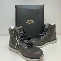 UGG Australia ENERG Caulder Dark Grey Mens Leather Waterproof Boots Size 9 M