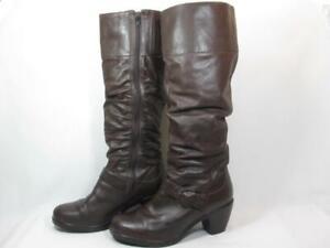 Dansko Brielle Knee High Boot Women size 41/10.5-11 Brown Leather