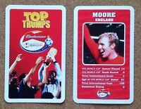 TOP TRUMPS Single Card BUDWEISER Football – VARIOUS