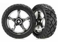 "Traxxas 2479R Anaconda Front Tires w/Tracer 2.2"" Wheels (2) (Chrome)"