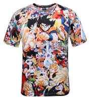 Summer Dragon Ball Z GT Son Goku Anime Vegeta Super Saiyan 3D T-Shirt Men Tee