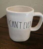 Rae Dunn I CAN'T EVEN Coffee Mug Original Brand Magenta M STAMP RARE