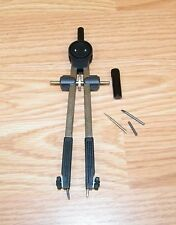 """Genuine Alvin Germany 7"""" (inch) Black & Silver Compass With Extras *Read*"""