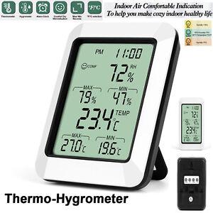 Digital LCD Humidity Meter Indoor Outdoor Hygrometer Thermometer Temperature