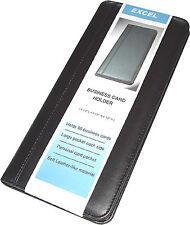 Business Card Holder w/ Business Card Pockets, Black, New