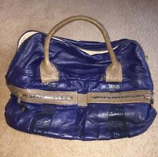 See By Chloe Blue And Brown Leather Large Handbag NWOT