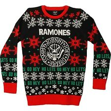 Official Ramones Hey Ho Let's Go Ugly Christmas Sweater / Sweatshirt (M or XL)