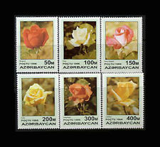 Azerbaijan, Sc #598-603, MNH, 1996, Flowers, Roses, Plants, A5RHI