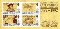 GUERNSEY 1992 EUROPA COLUMBUS WITH O/P MINIATURE SHEET MNH