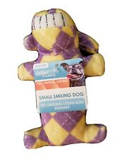 "Multipet SMILING LOOFA Loofha Fetch Chew Crinkle Squeaky Dog Toy 6"" long"