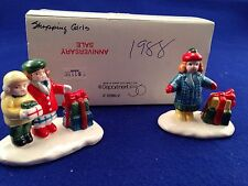 Dept 56 Snow Village Shopping Girls with Packages #50962 RARE