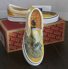 VANS X Vincent van Gogh Skull Classic Slip On Sneakers Sz Womens 8 Men 6.5  /10