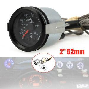 "2"" / 52mm Celsius Water Temperture Gauge Meter w/Sensor Centigrade & Fahrenheit"