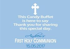 Personalised Boy Communion Candy Buffet Table Sign Design 4