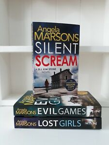 Collection of 3 x Paperback Books Crime, Thriller - Angela Marsons Silent - NEW