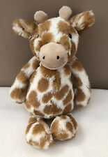 Jellycat Small Bashful Giraffe Comforter Soft Toy Boy Girl Jelly Cat Plush Brown