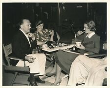 BETTE DAVIS Mother Director EDMUND GOULDING 1937 CANDID on Set Warner Bros Photo