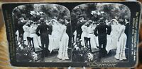 Antique Stereograph Card -Wedding Series - Lot of 9 Cards, H.C. White c.1902