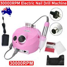 30000rpm Electric Nail Art Drill File Manicure Pedicure Machine Bits 6 Tool AU