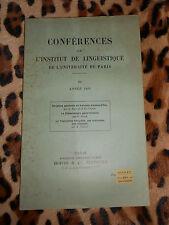 Conférences de l'institut de linguistique de l'université de Paris - n° 3, 1935