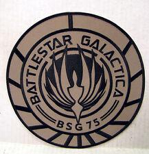 "Battlestar Galactica BSG-75 Tan Logo 3.75"" Uniform Patch- FREE S&H (BGPA-10-Tan)"