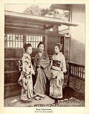 Junge Japanerinnen in Landes- Tracht Historischer Photo- Kunstdruck von 1905