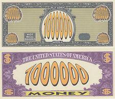 50 Play Money $1,000,000 Novelty Money Bills Lot