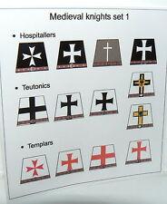 13 Custom stickers templars teutonics hospitallers KNIGHTS - to convert lego tor