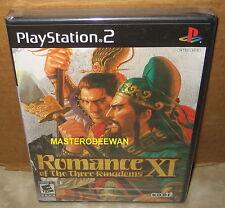 Romance of the Three Kingdoms XI New Sealed (Sony PlayStation 2, 2007) PS2