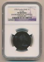 1795 Plain Edge Large Cent, NGC VF Details