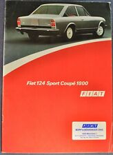 1973-1974 Fiat 124 Sport Coupe 1800 Catalog Brochure Nice Original German Text