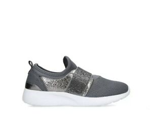 Carvela Comfort Connie Womens Sneakers Grey Fabricsize 5 / 38