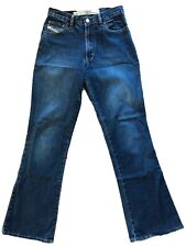Diesel Industries Basic Jeans Boot Cut Zipper Fly Size 28 Made Italy 100% Cotton